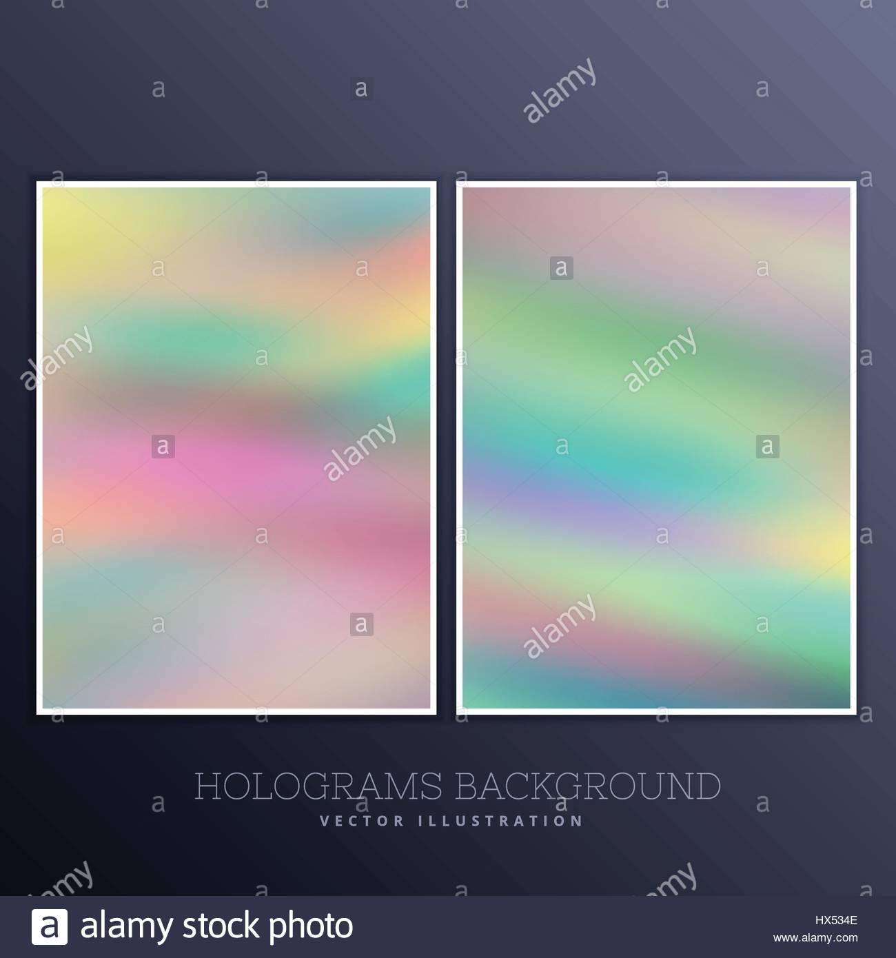 Set Di Sfondo Olografico Illustrazione Vettoriale 136565870 Alamy