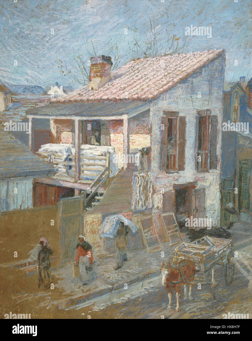 Vecchia fabbrica materasso NOLA 1904 Woodward Immagini Stock