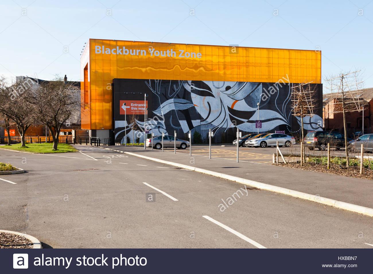Blackburn zona della gioventù. Immagini Stock