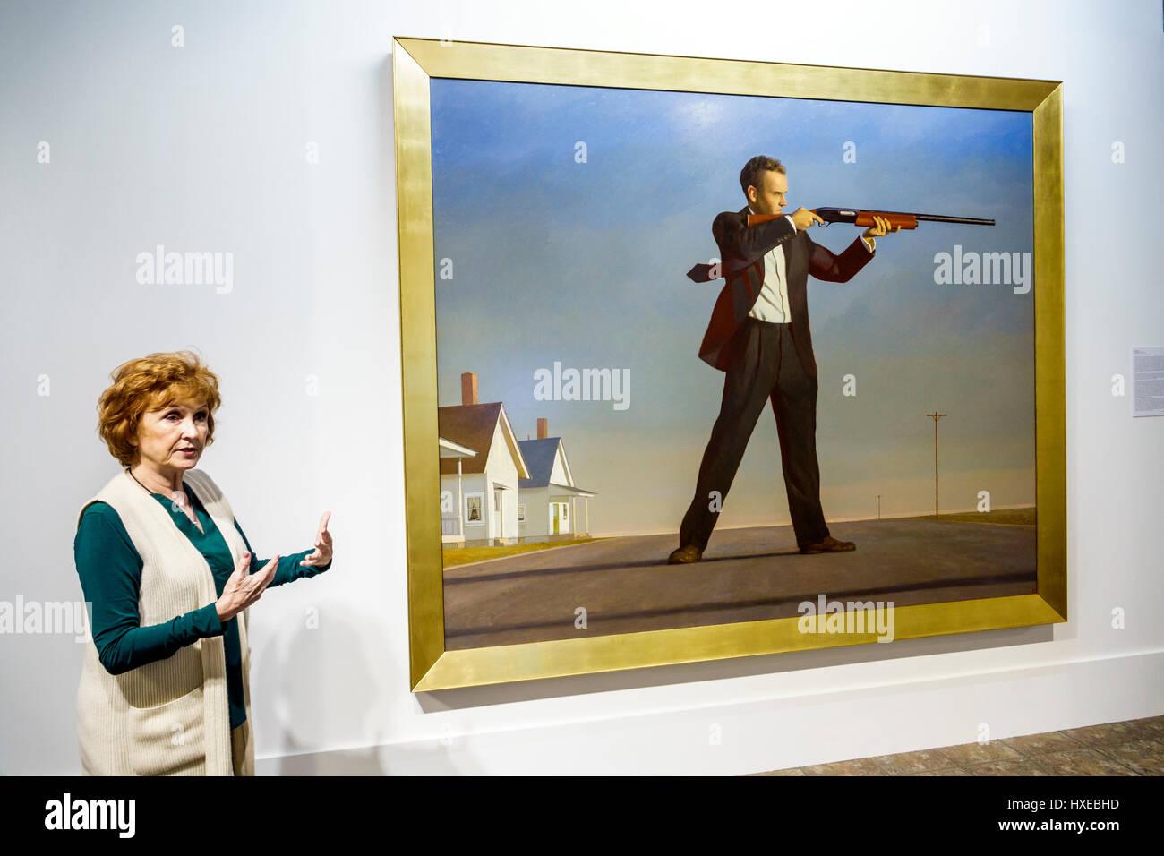 Orlando in Florida Mennello Museum of American Art Museo di arte mostra in scala grande pittura Bo Bartlett il realismo Immagini Stock