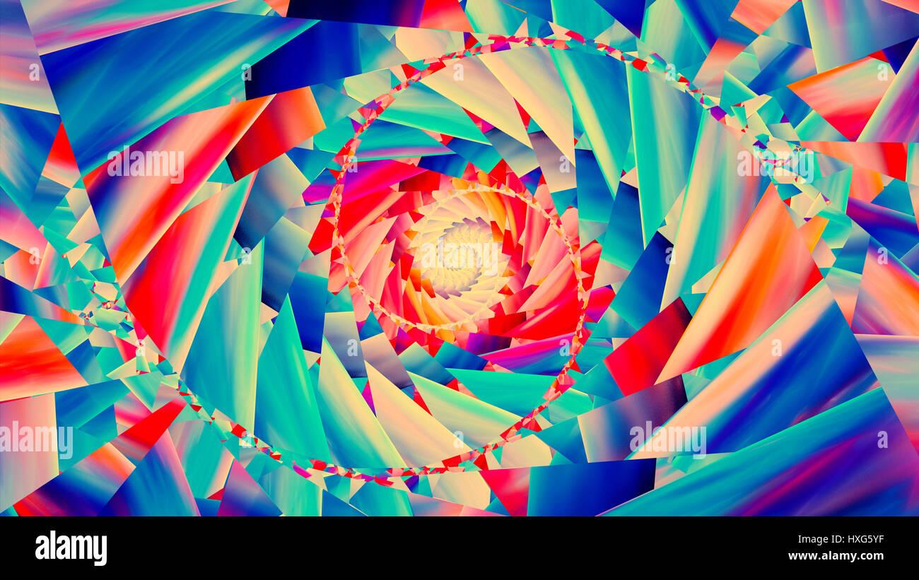 Colorati A Spirale Alla Moda Generato Dal Computer Sfondo Astratto