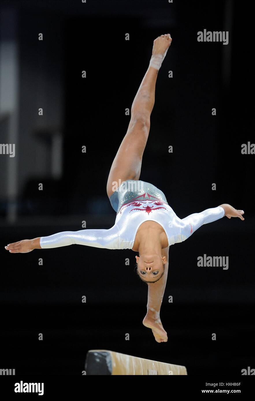 CLAUDIA FRAGAPANE della ginnastica la ginnastica è la SSE IDRO GLASGOW Scozia 29 Luglio 2014 Immagini Stock