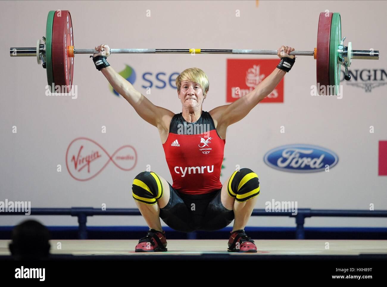 MICHAELA BREEZE Donna Donne di sollevamento pesi il sollevamento pesi Clyde Auditorium GLASGOW Scozia 26 Luglio Immagini Stock