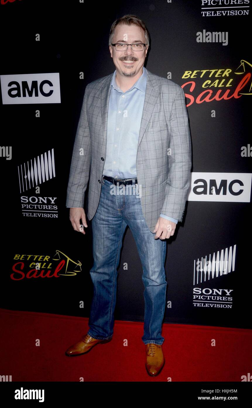 Città di Culver, CA. 28 Mar, 2017. Vince Gilligan presso gli arrivi per meglio chiamare Saul Stagione 3 Premiere, Immagini Stock