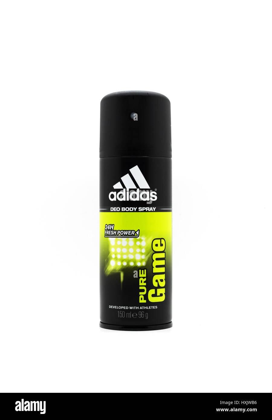 Adidas Deodorante Spray corpo Immagini Stock