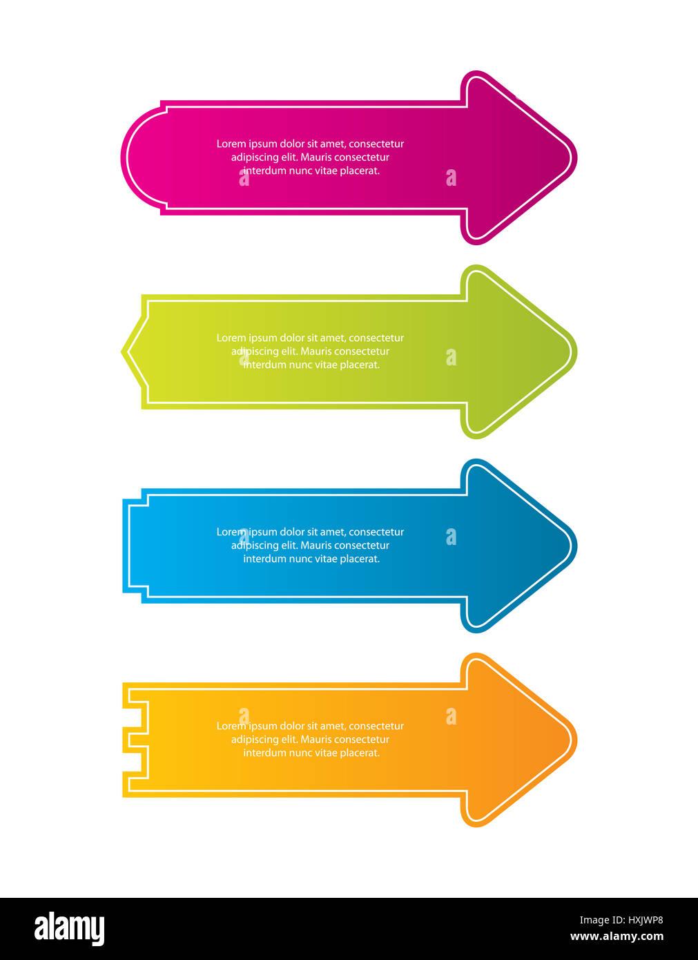 Speciale freccia colorata adesivi per siti web.illustrazione vettoriale EPS10 Immagini Stock