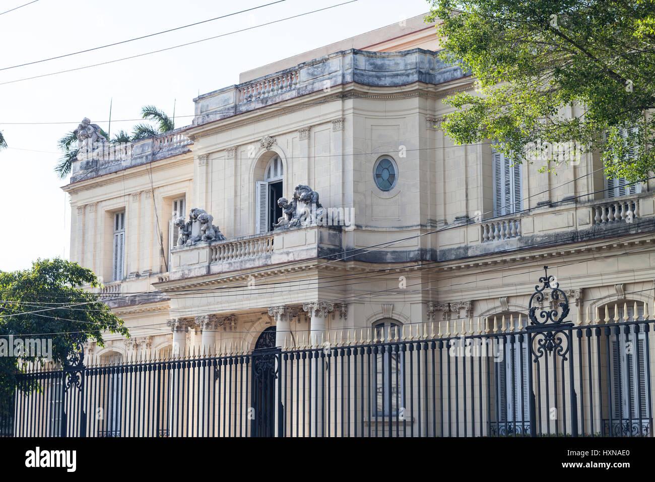 Museo delle Arti Decorative di Havana, Cuba Immagini Stock