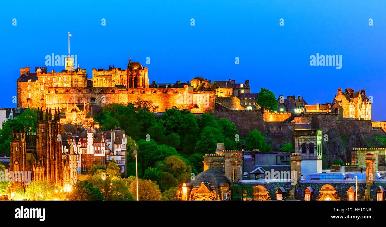 Il Castello di Edimburgo, Scozia Immagini Stock