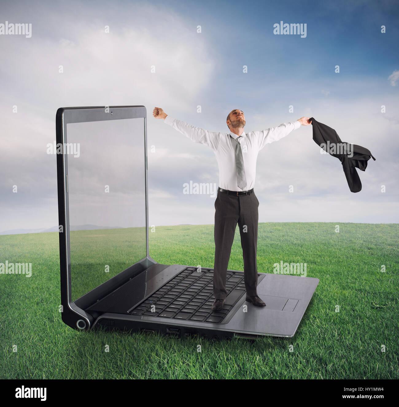 Tecnologia di concetto di dipendenza Immagini Stock