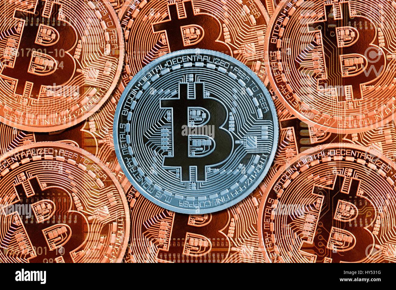Valuta digitale - Bitcoin, Digitale Waehrung - Bitcoin Immagini Stock