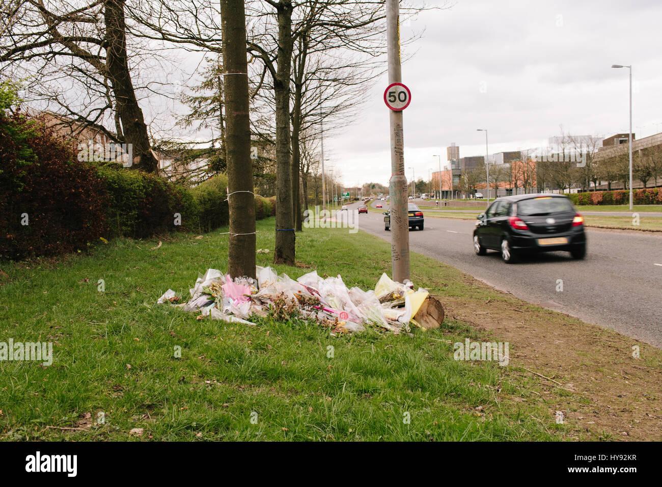 c9f38ae5fc Strada omaggio ai teenager di East Kilbride. Immagini Stock