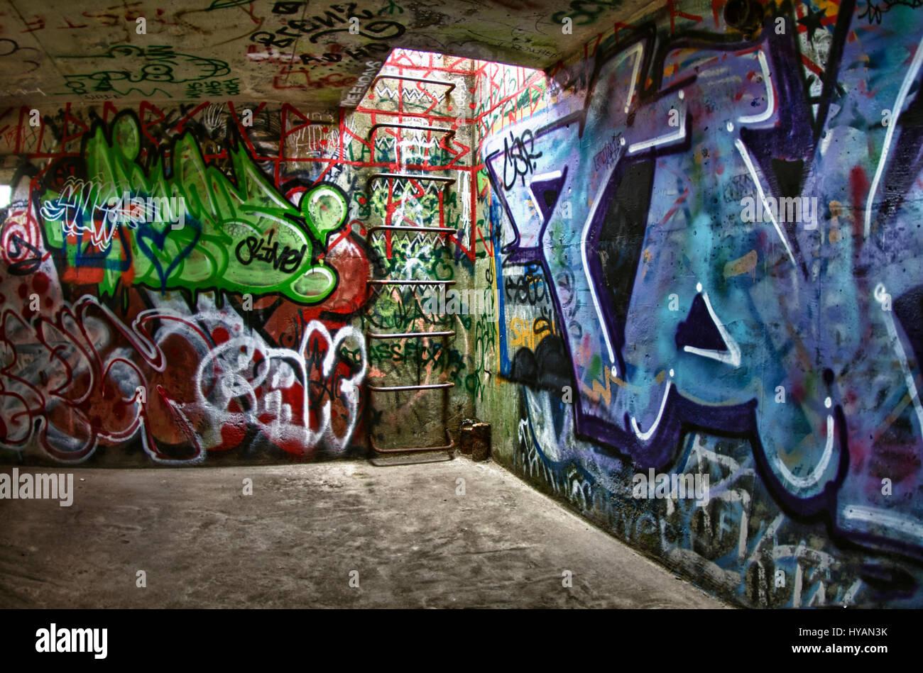 New York Stati Uniti D America Vista Interna Del Bunker A Fort