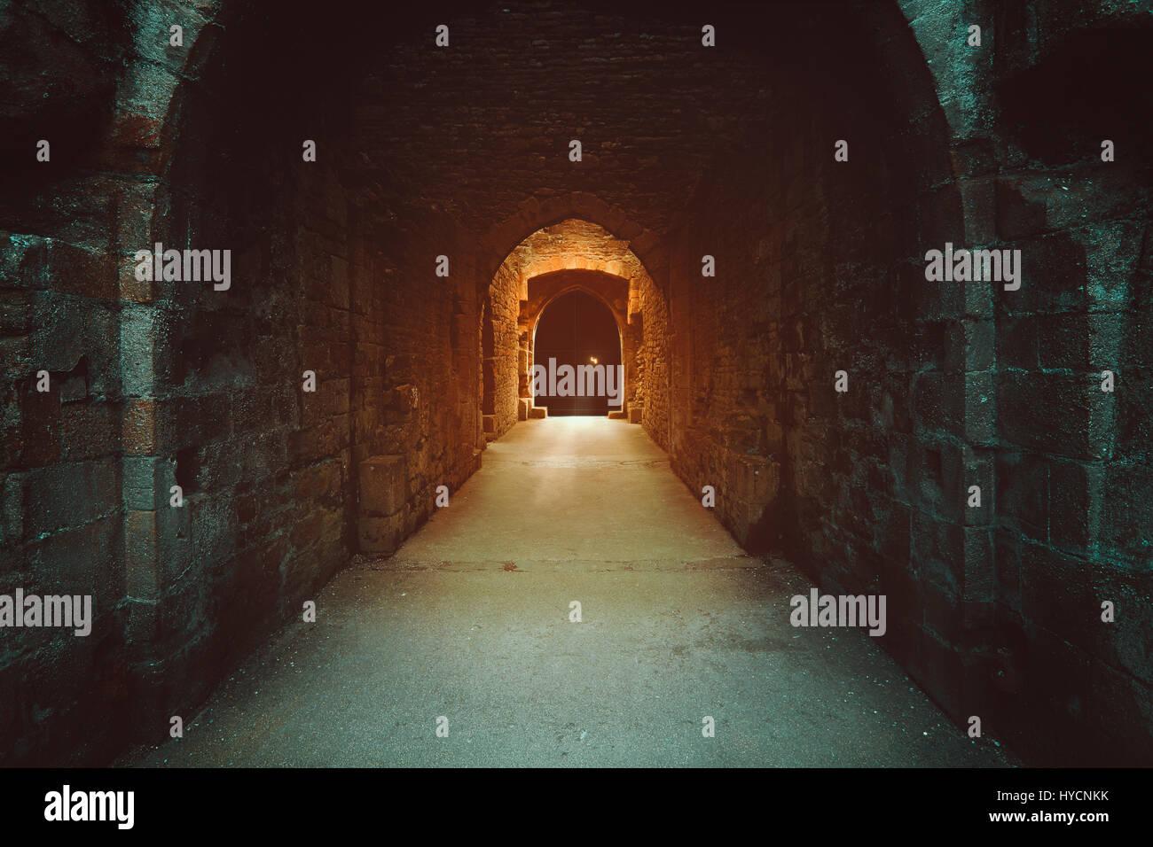 Misterioso cancello magico agli inferi. Dark fantasy Immagini Stock