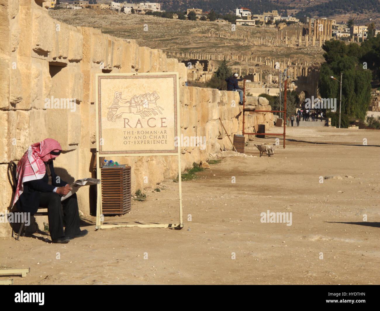 Le rovine romane, Jerash, Giordania Immagini Stock