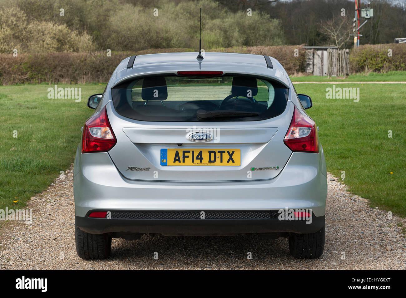 2014 Ford Focus auto elettrica Immagini Stock