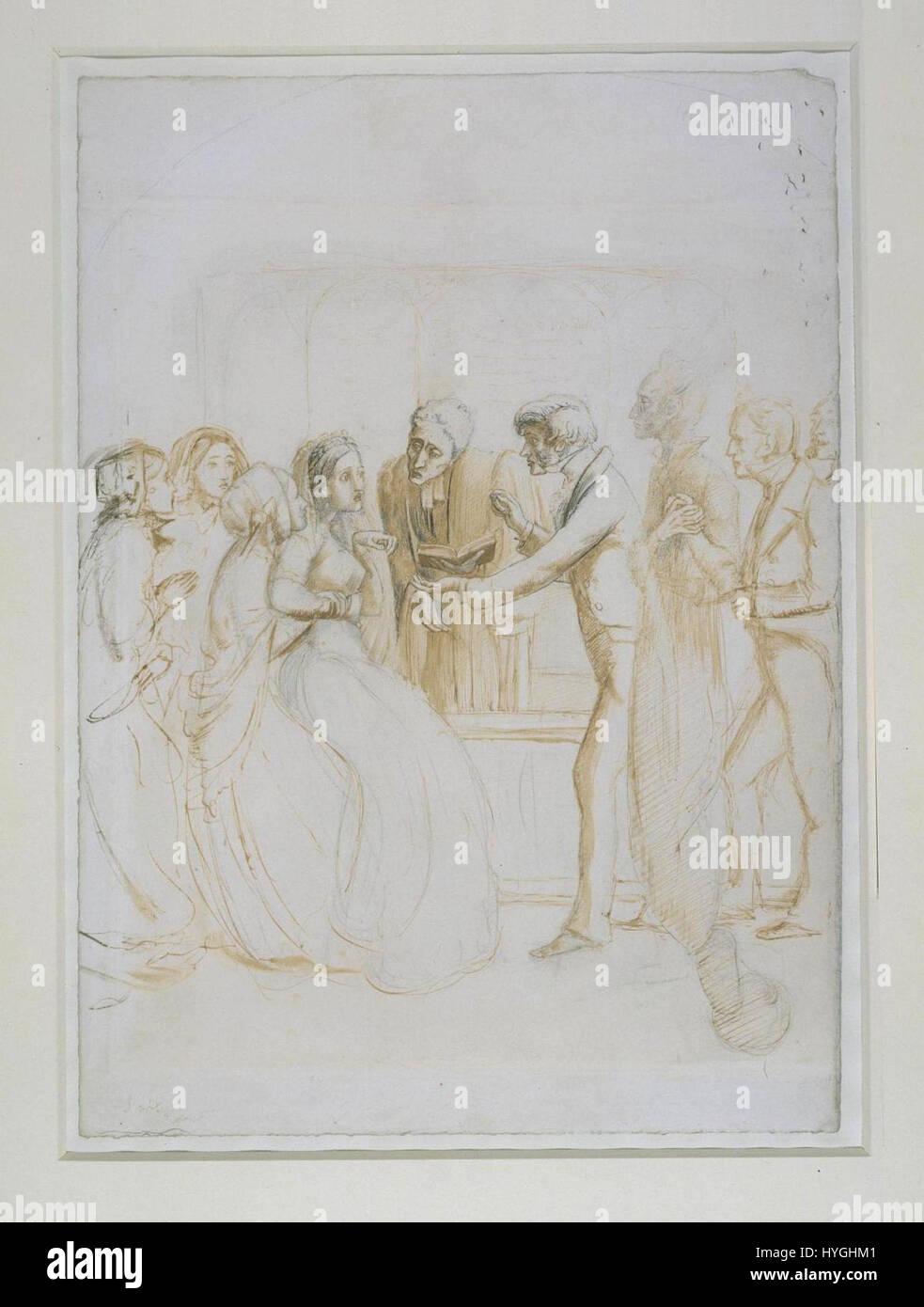 Nazioni Unite Fantasma alla cerimonia di nozze 1853 (John Everett Millais) Immagini Stock