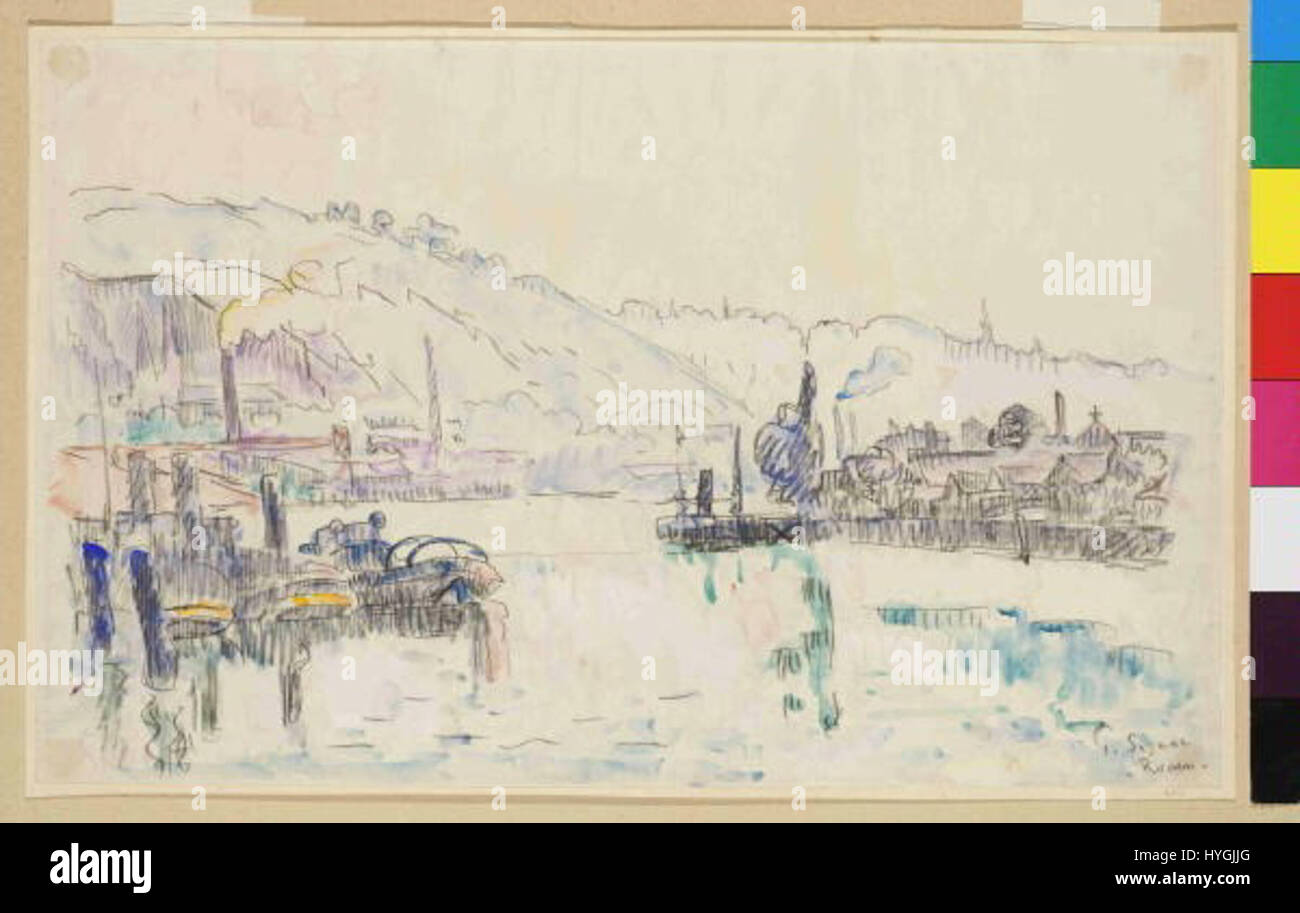 Paul Signac 11. 11. 1863 15. 8. 1935 Rouen Foto Stock