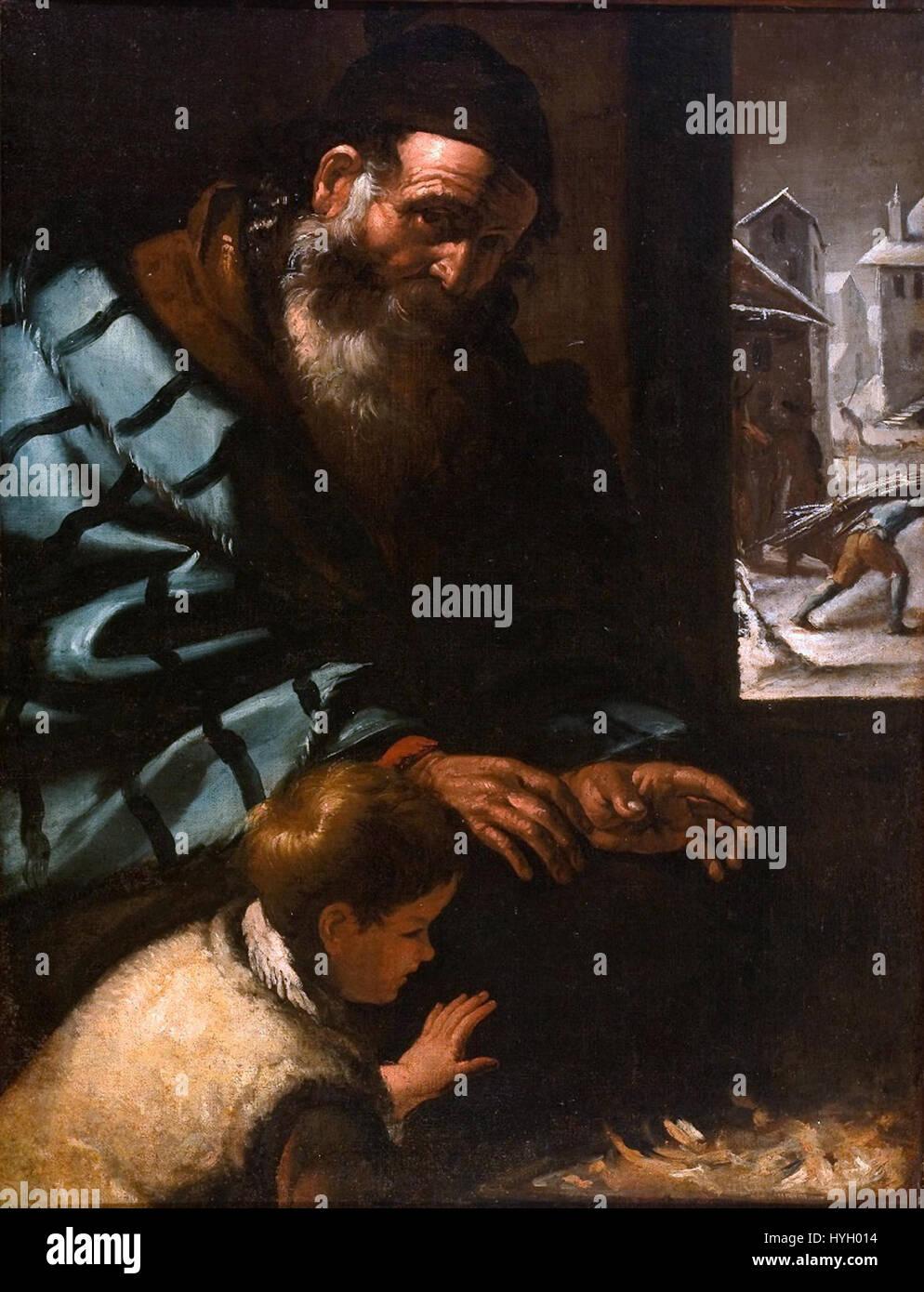 Pietro Bellotti (atrib.) Alegoria fare inverno Immagini Stock