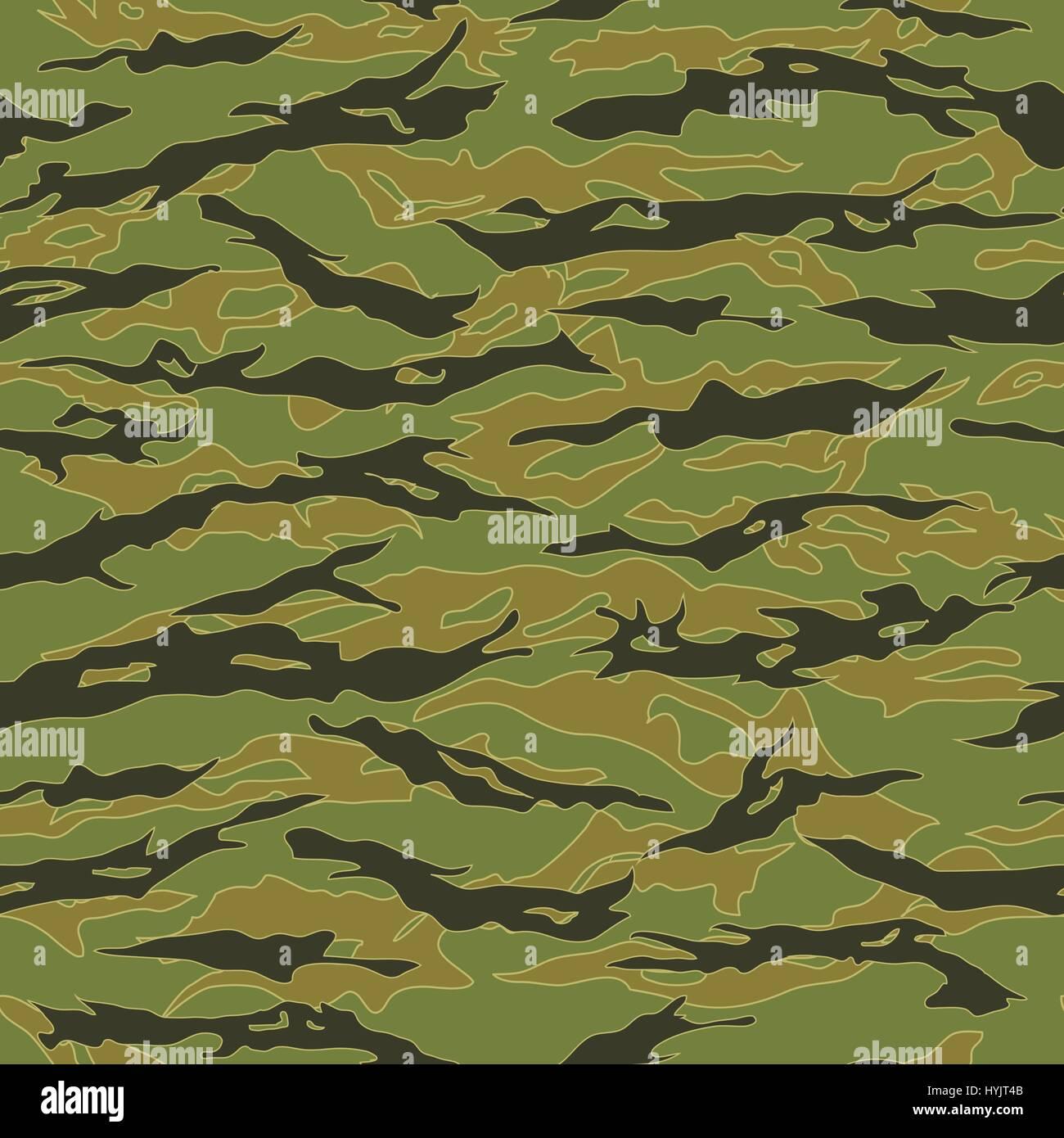 Il Vietnam Tiger stripe Camouflage pattern senza giunture Illustrazione Vettoriale