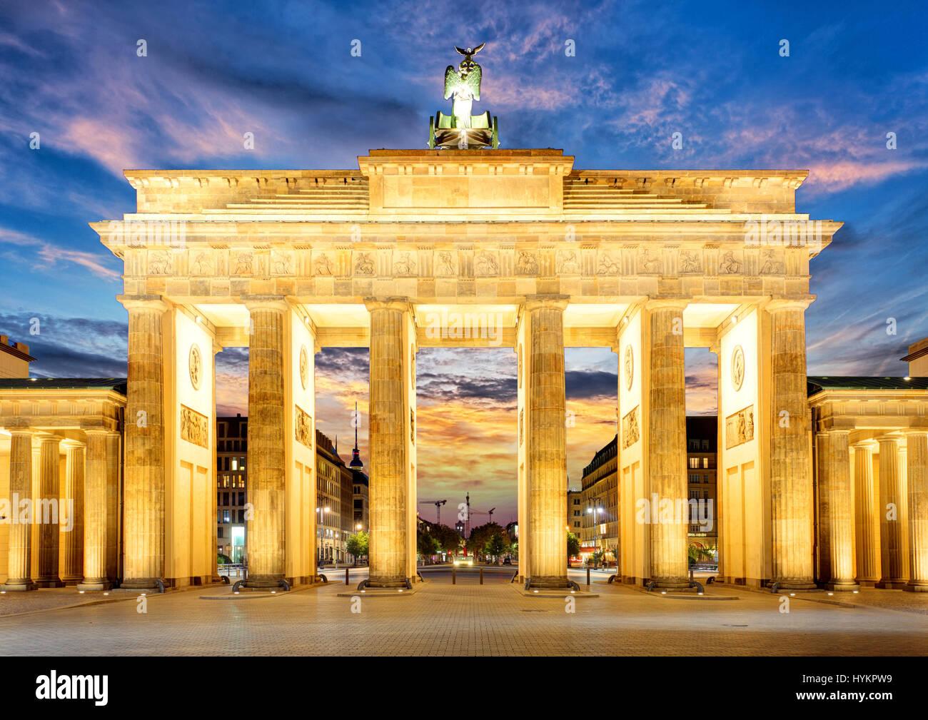 Cancello di Berlino Immagini Stock