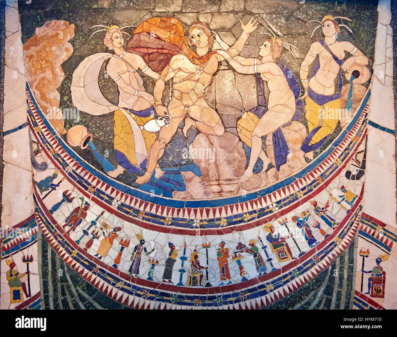 Iv secolo D C  Roman Opus Sectile mosaico raffigurante ninfe