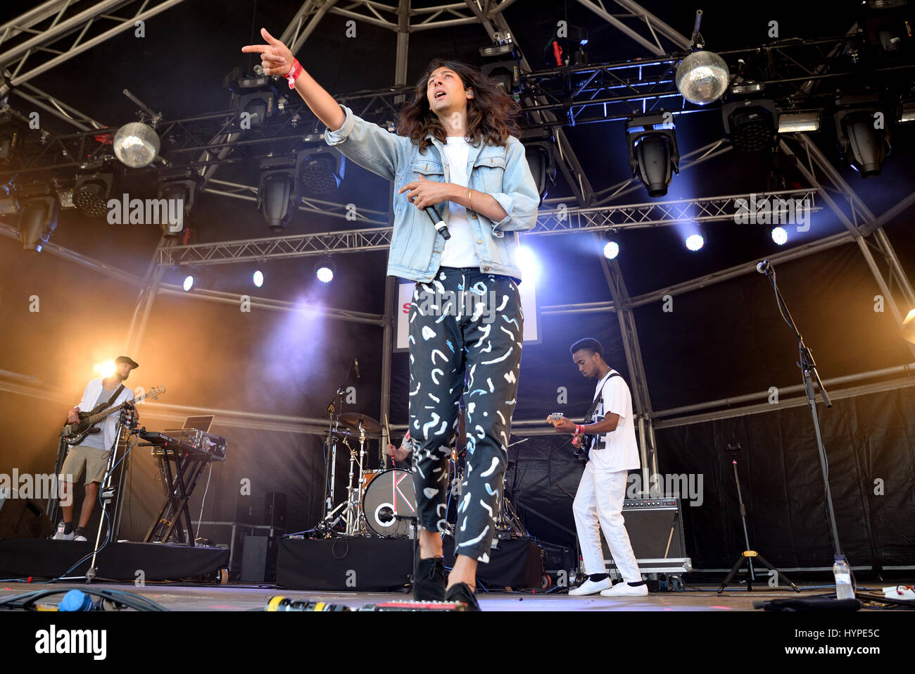 Barcellona - Jun 18: gentilezza (banda) in concerto al Sonar Festival il 18 giugno 2015 a Barcellona, Spagna. Immagini Stock