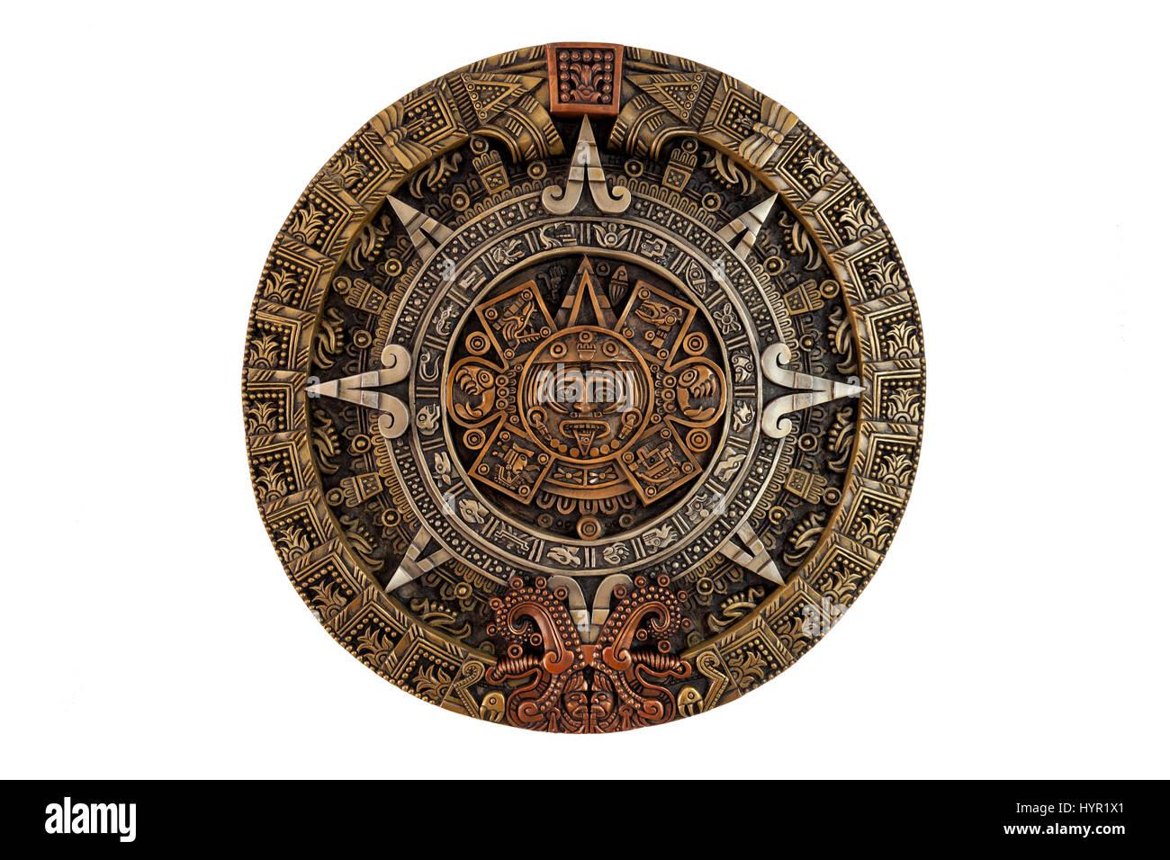 Calendario Antico.Isolato Antico Calendario Azteco Foto Immagine Stock
