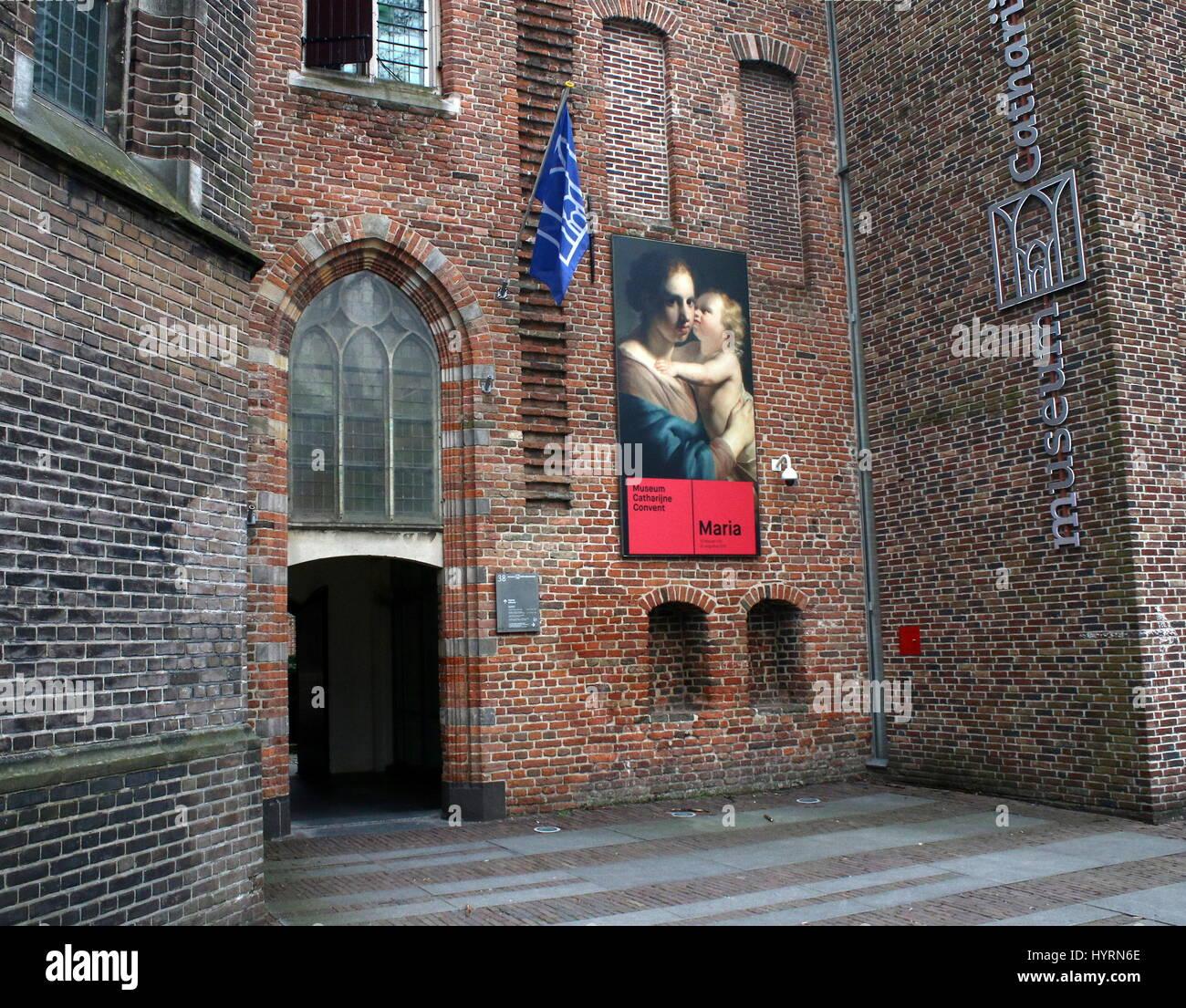 Ingresso al Museo Catharijneconvent (St. Catherine Convent Museum, il museo di arte religiosa a Utrecht, Paesi Bassi. Immagini Stock