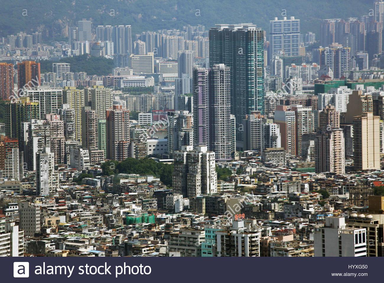 Paesaggio della sezione centrale di Macao. Immagini Stock