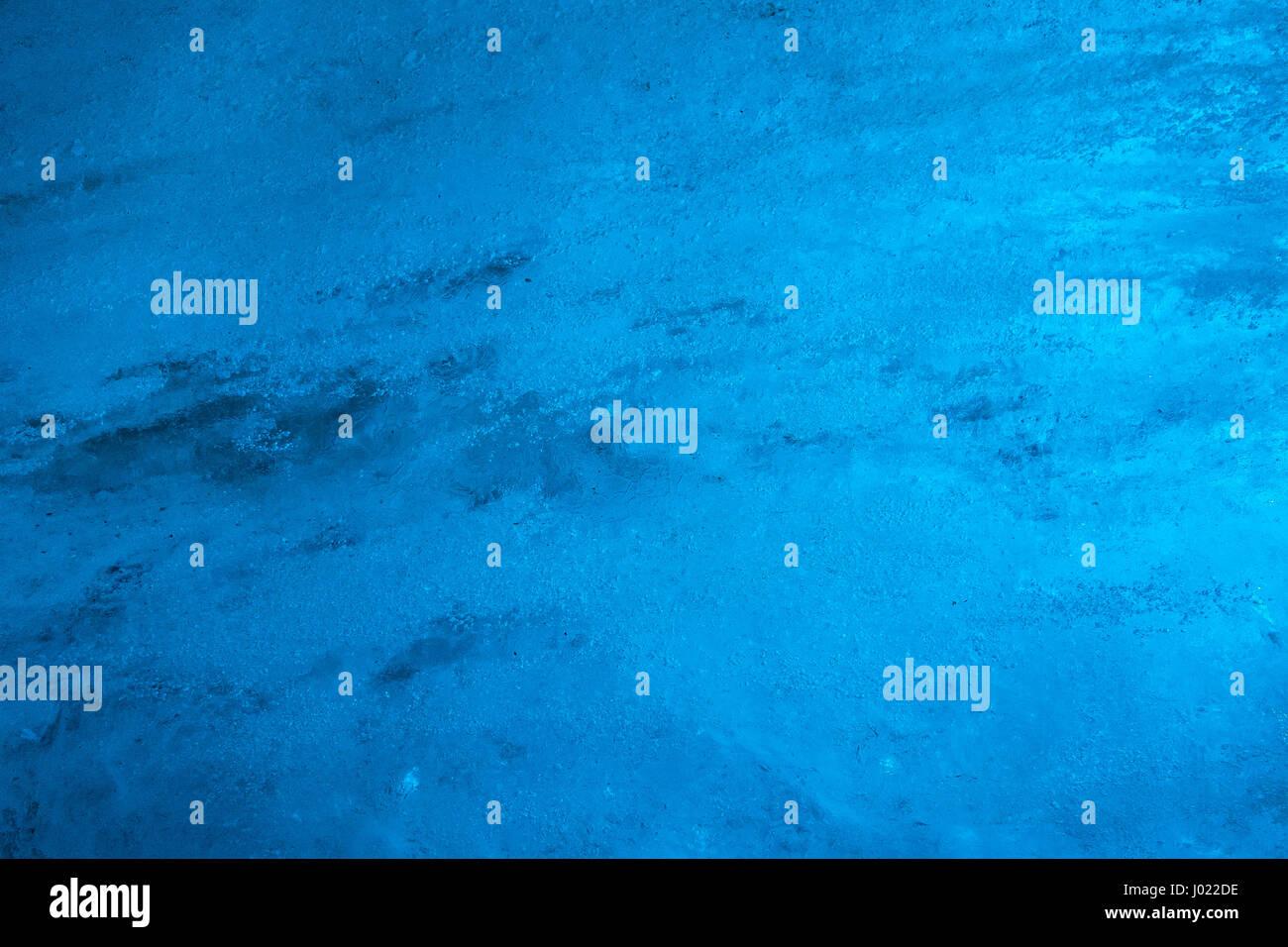 Tunnel Solare A Parete dettaglio del blu parete di ghiaccio del ghiacciaio interno