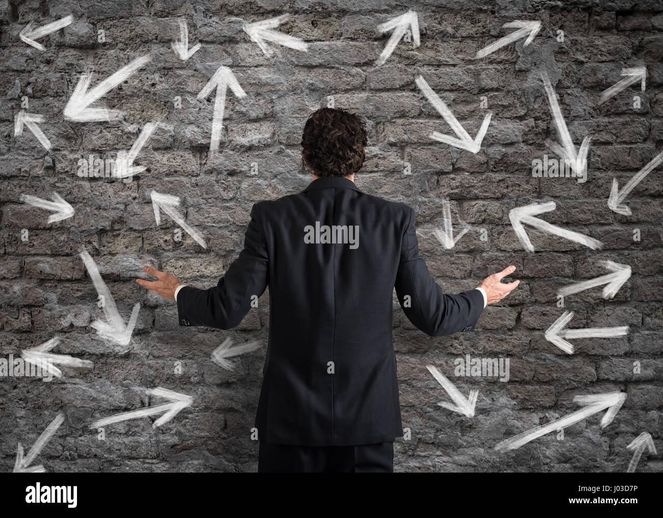 Scelte difficili di un imprenditore Immagini Stock