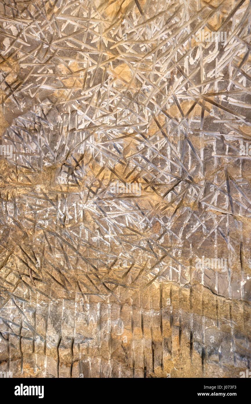 Configurazione astratta in pietra Immagini Stock