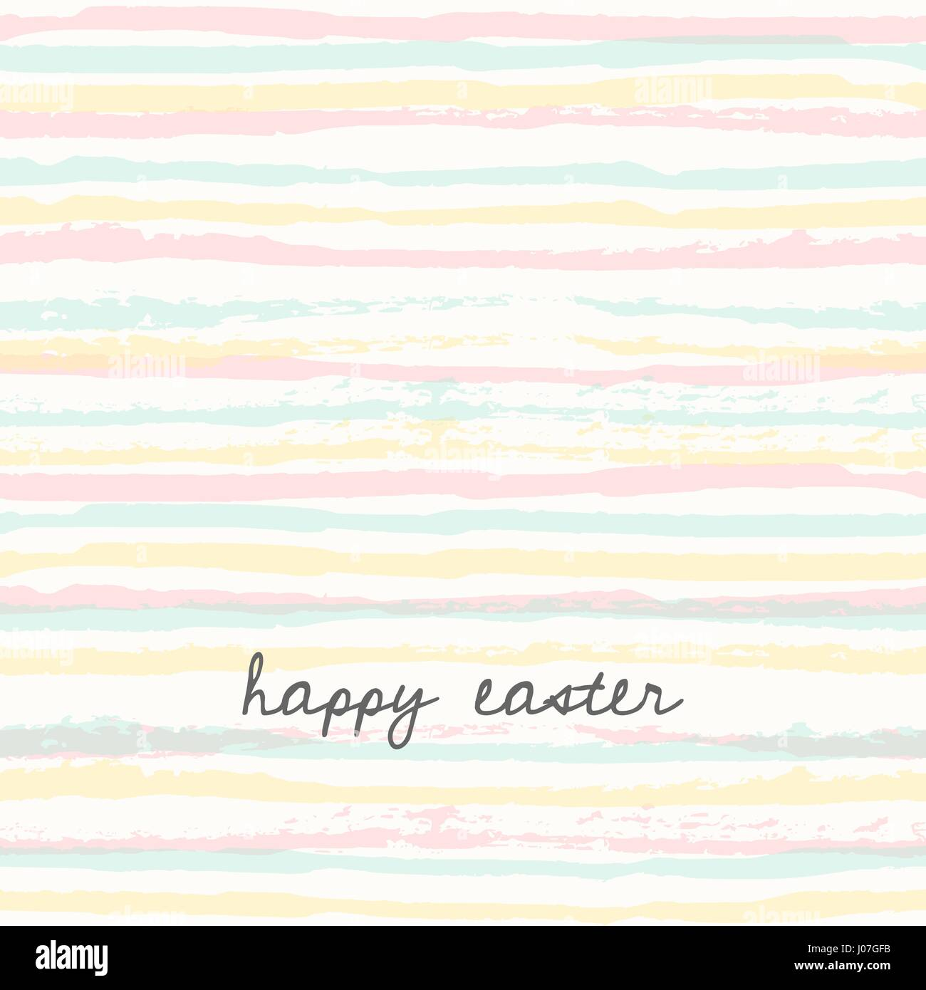 Pasqua Modello Di Biglietto Dauguri Disegnato A Mano Strisce