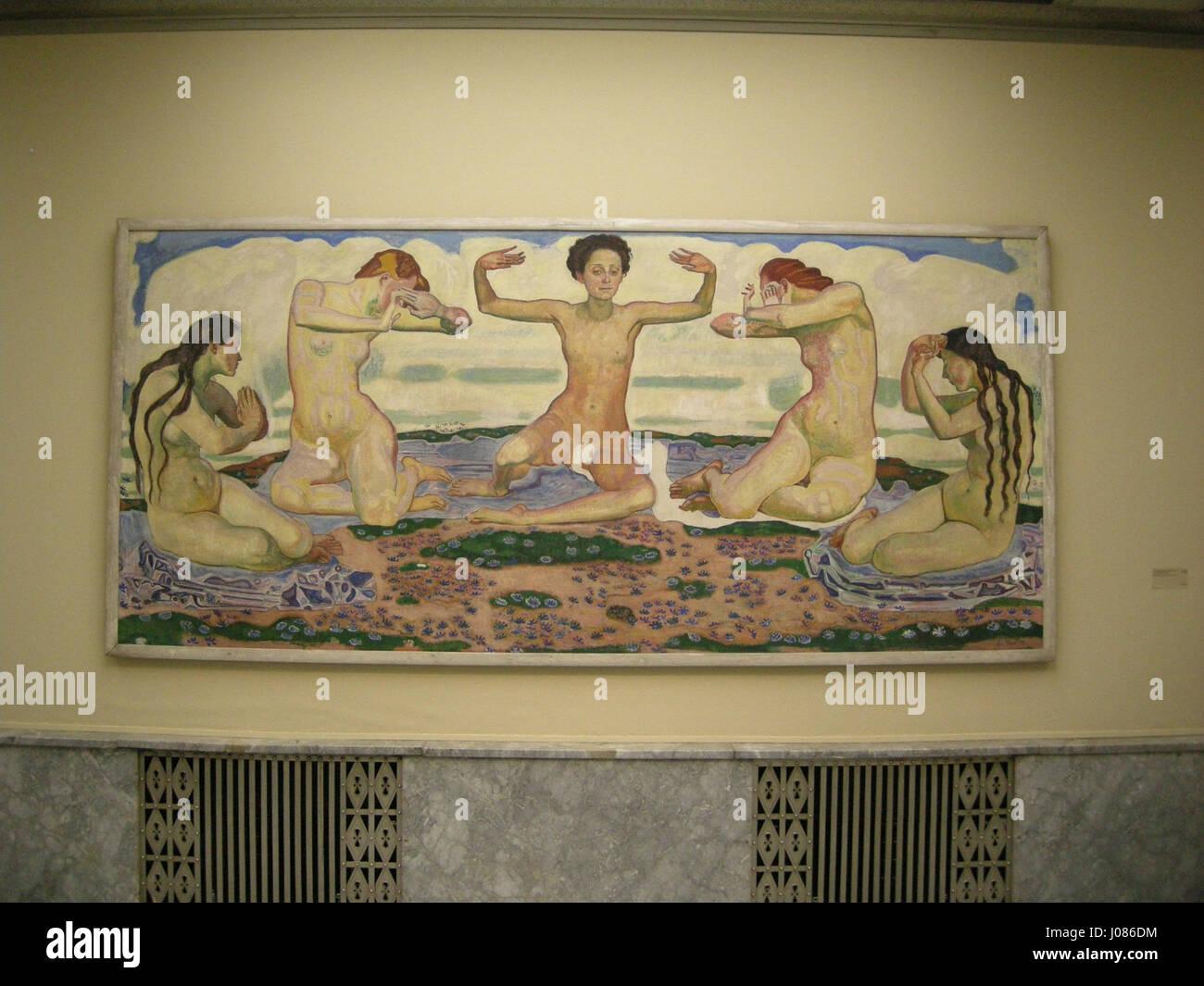 Il Kunsthaus Zürich, interno, Ferdinand Hodler, der tag, 1904-1907 Immagini Stock