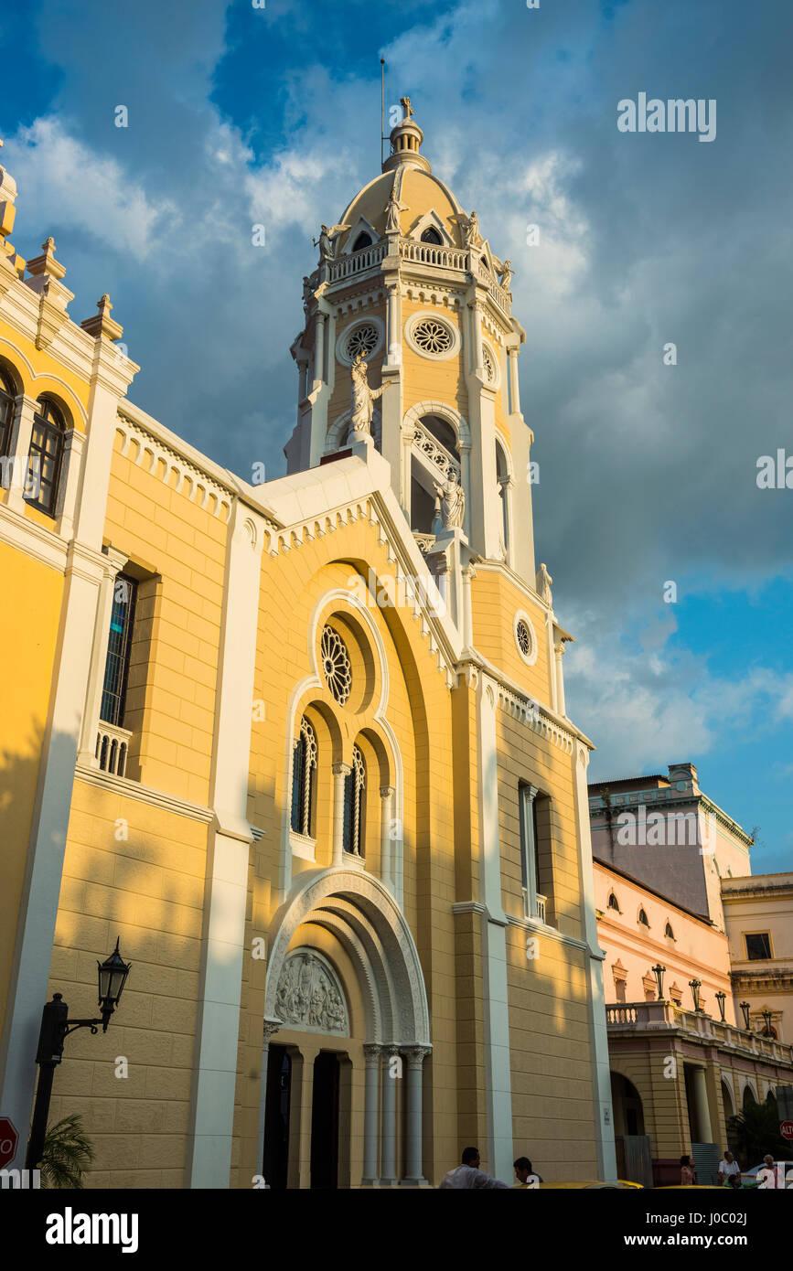 La Chiesa di San Francisco, Casco Viejo, Sito Patrimonio Mondiale dell'UNESCO, Panama City, Panama America Centrale Immagini Stock
