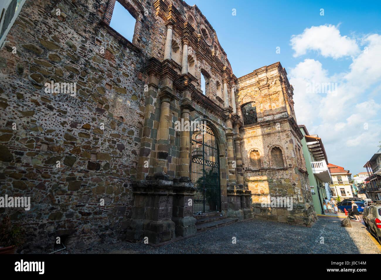 La Società di Gesù, Casco Viejo, Sito Patrimonio Mondiale dell'UNESCO, Panama City, Panama America Immagini Stock