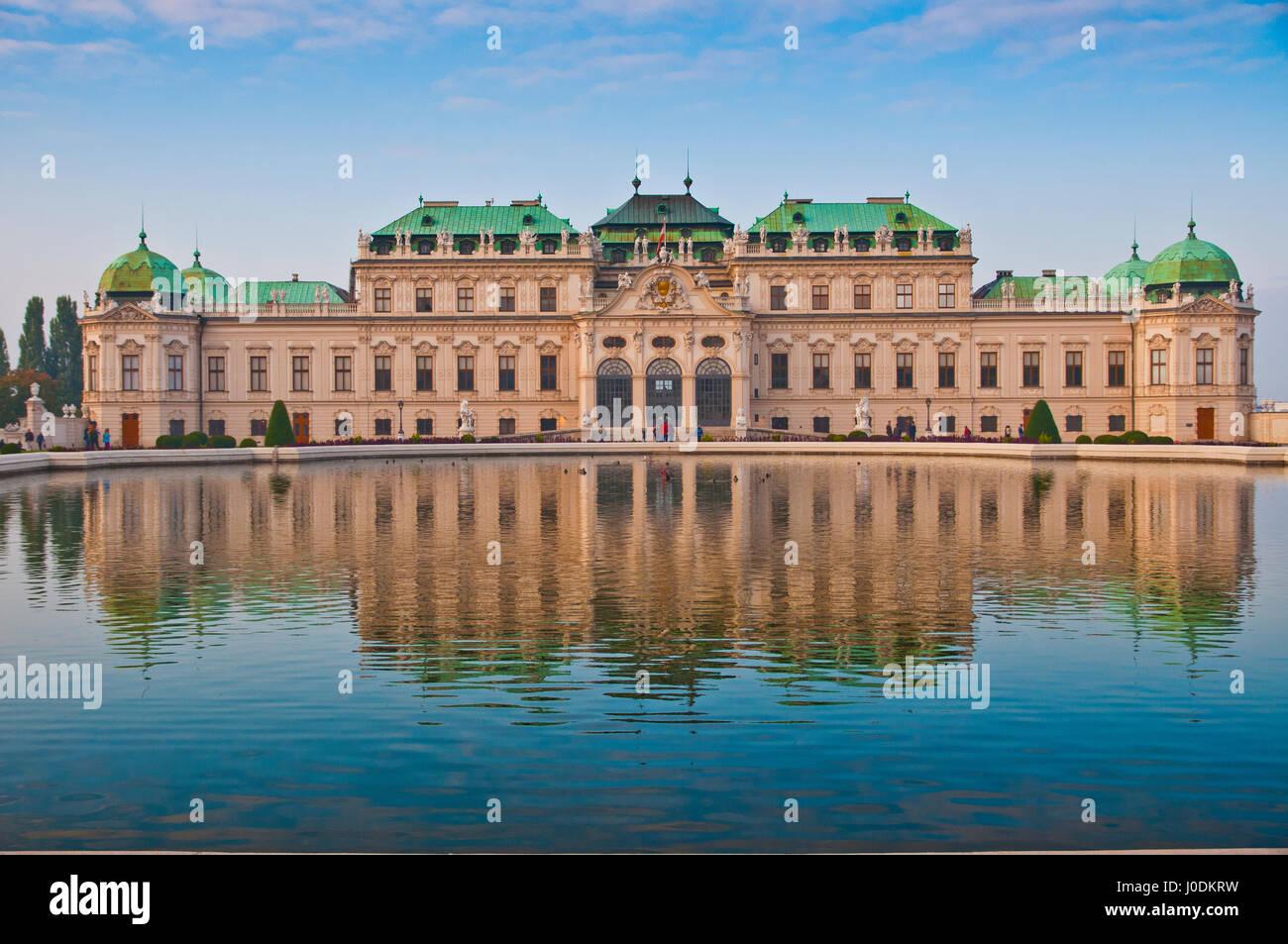 Bellissima vista sul palazzo Schoenbrunn in Vienna, Austria. Immagini Stock