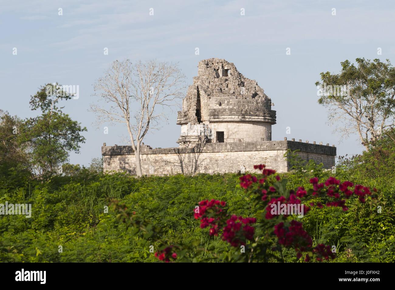 Messico, Yucatan, Chichen Itza sito Maya, El Caracolo Observatory Immagini Stock