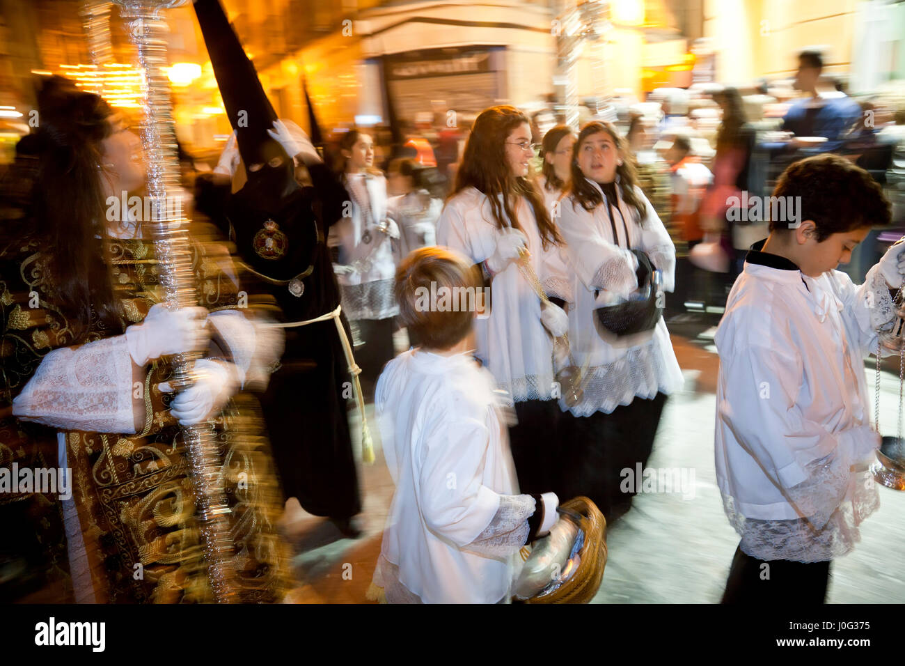 Semana Santa Pasqua Fiesta Malaga Andalusia Spagna Immagini Stock