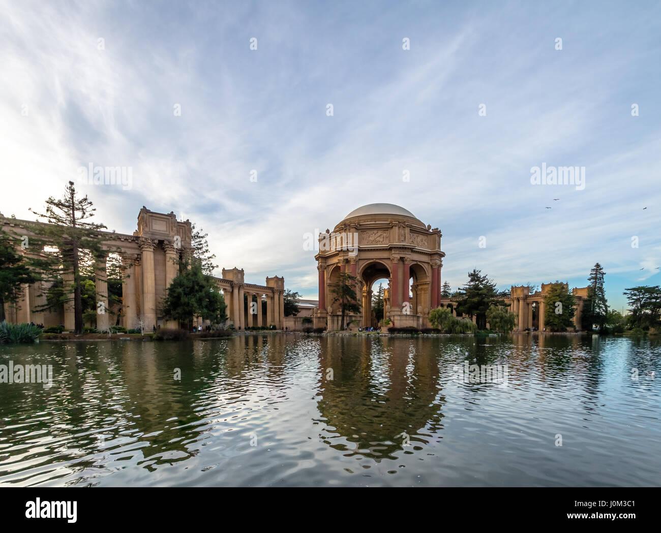 Il Palazzo delle Belle Arti - San Francisco, California, Stati Uniti d'America Immagini Stock