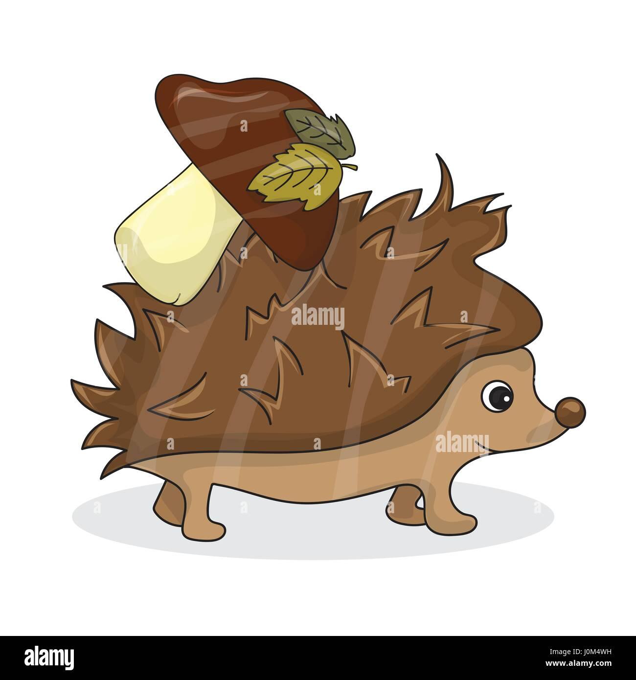 Riccio personaggio di masha e orso cartoni animati