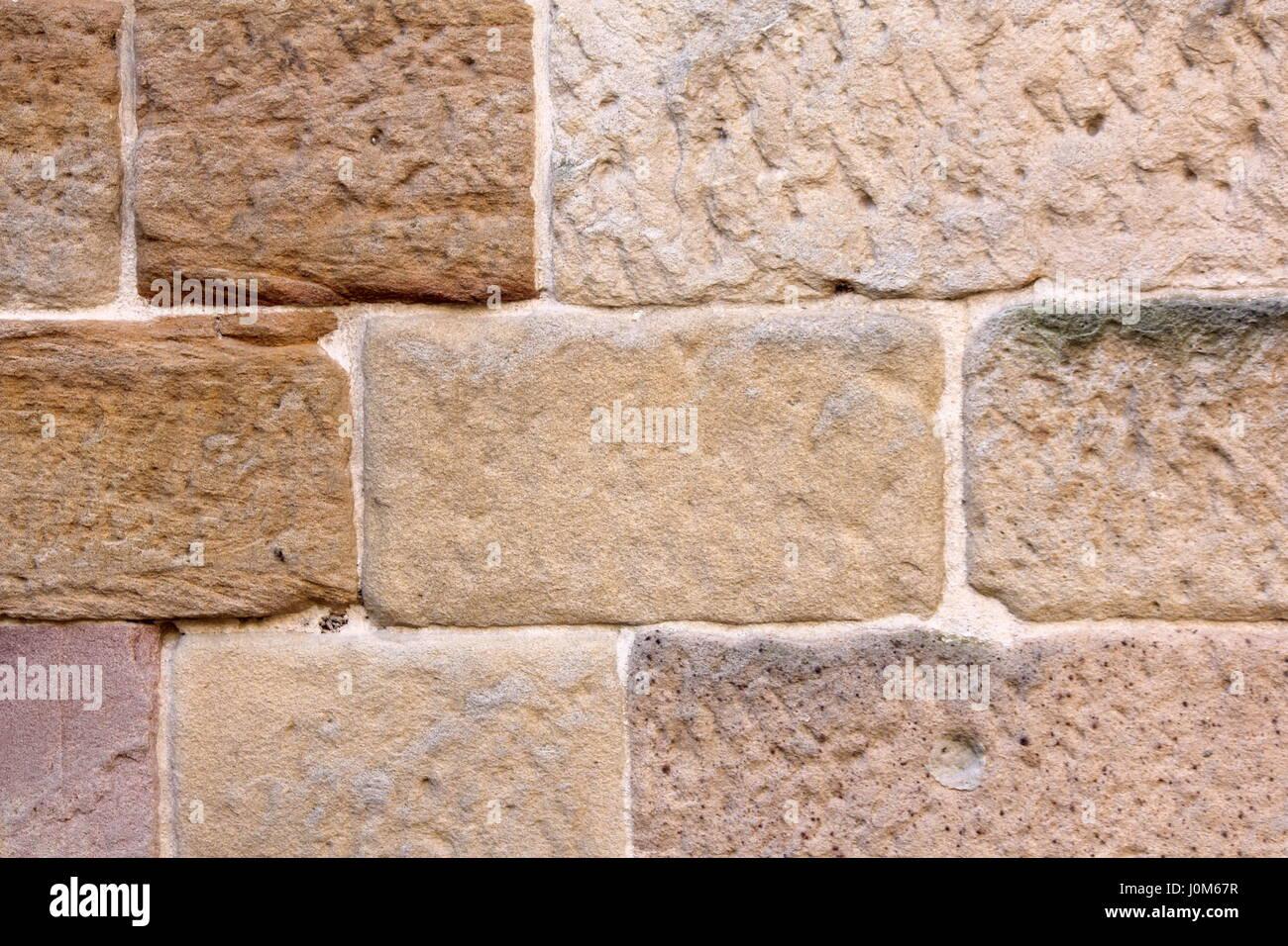Vintage muro di mattoni grande per gli sfondi e le texture Immagini Stock