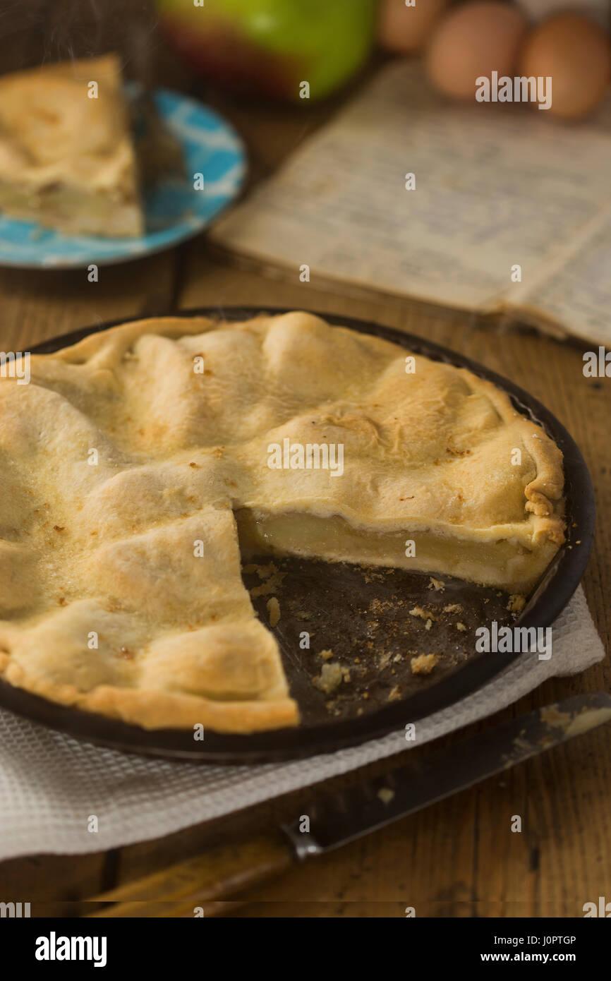 Nonna torta di mele Immagini Stock