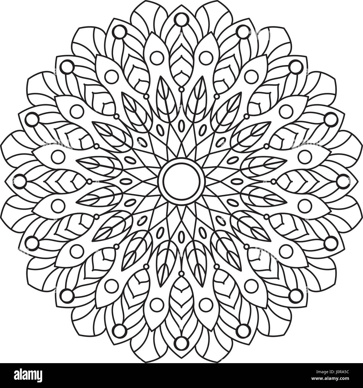Libro Da Colorare Mandala Cerchio Ornamento Di Pizzo Round Motivo
