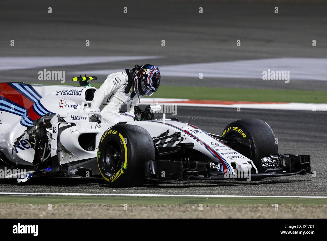 Sakhir, Bahrain. Xvi Apr, 2017. Motorsports: FIA Formula One World Championship 2017, il Gran Premio del Bahrain, Foto Stock