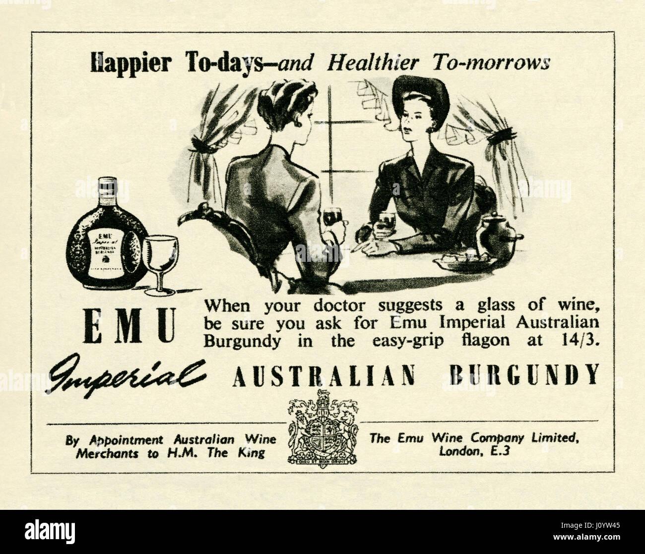 Un inizio di inserzione per importato Australian  UEM Imperial  marca  Borgogna vino rosso. 1992b4f666ae