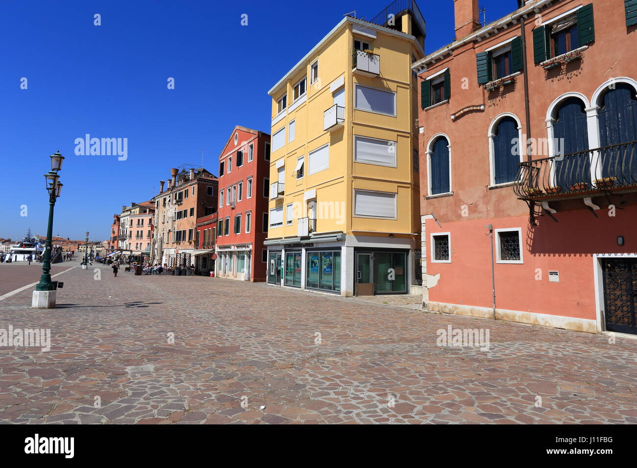 Venezia Italia, Riva dei Sette Martini. Passeggiata a Venezia. Foto Stock