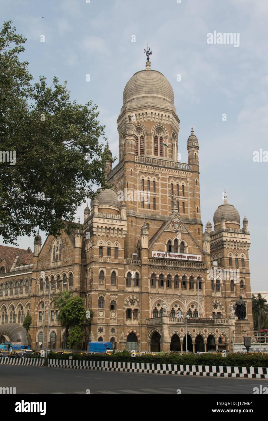 Bombay Municipal Corporation edificio (1893) o BMC edificio in Mumbai, India. Immagini Stock