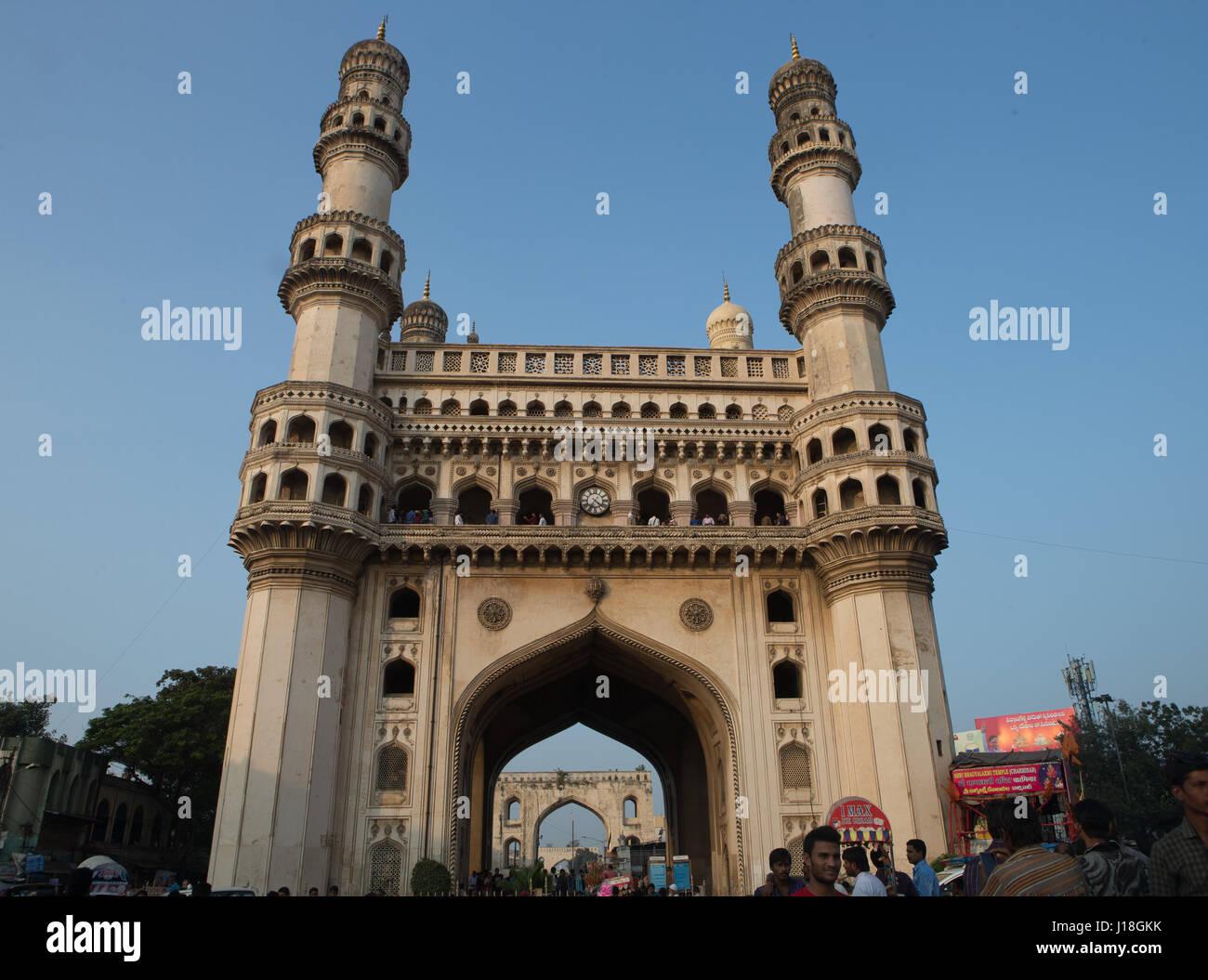 Il Charminar in Hyderabad, Telangana, India. Immagini Stock