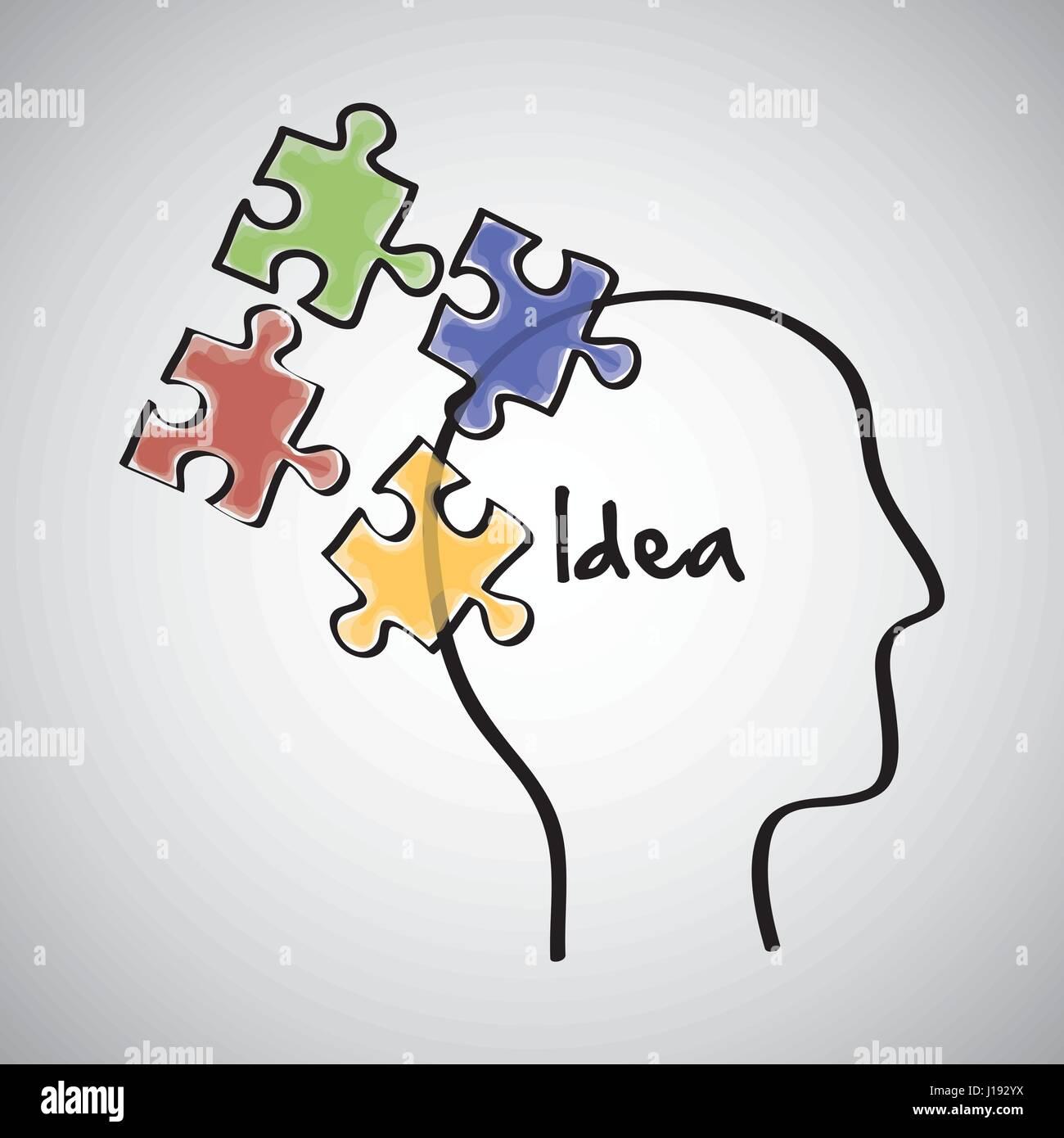 Idea Design. Disegna icona. Sfondo bianco , vettore Illustrazione Vettoriale